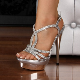 shoes heels prom cute sparkle high heels