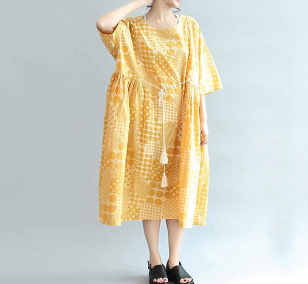 dress long dress yellow maternity dress