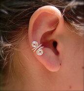 jewels,ear cuff,earrings,silver,set