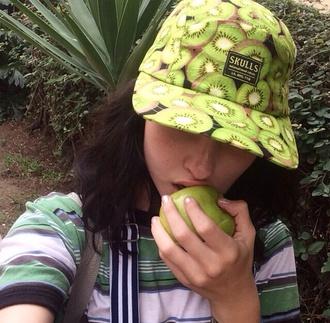 hat green hat snapback kiwi