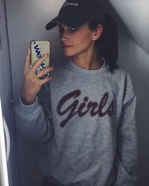 sweater grey sweater sweatshirt girls sweatshirt friends grey friends TV show top grey sweater chill girl lgbt t-shirt tumblr longsleeved t-shirt long sleeves hat california jumper oversized sweater