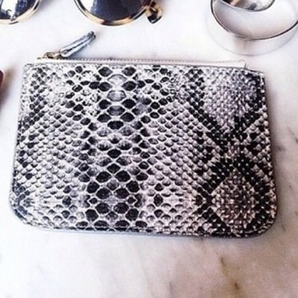 home accessory makeup bag girly edgy hipster snake print