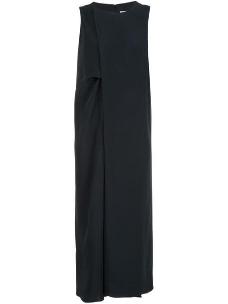 dress midi dress women midi black silk