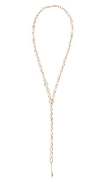 Gorjana Rowan Threading Lariat Necklace in gold / yellow