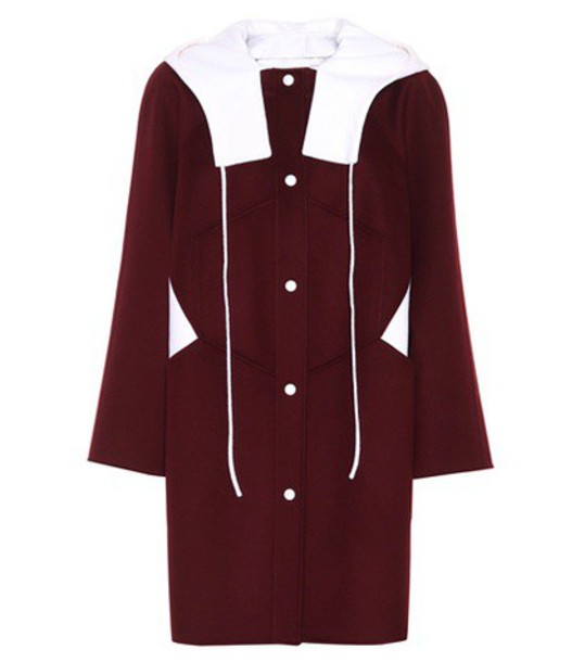 Valentino coat wool red