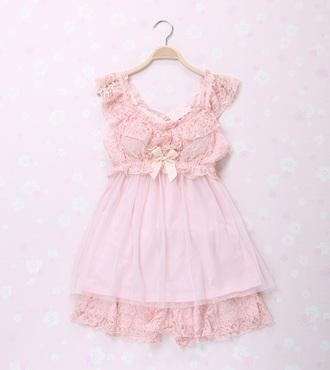 pajamas sweet japanese lace cute