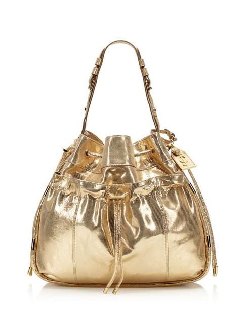 bag handbag gold gold