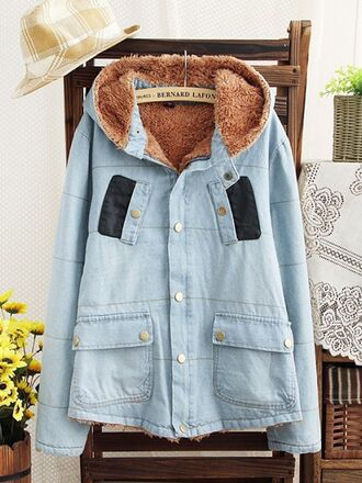 jacket denim women fashion winter coat thick coat hoodie hoodie coat