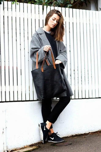 the chronicles of her pants coat sweater shirt shoes bag jewels apc tote bag