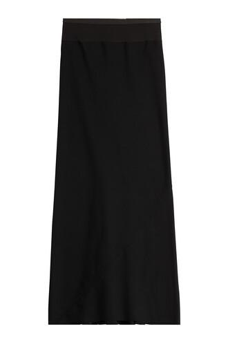 skirt maxi skirt maxi wool black
