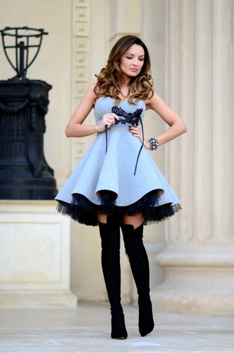 my silk fairytale blogger circle dress bustier dress tulle dress