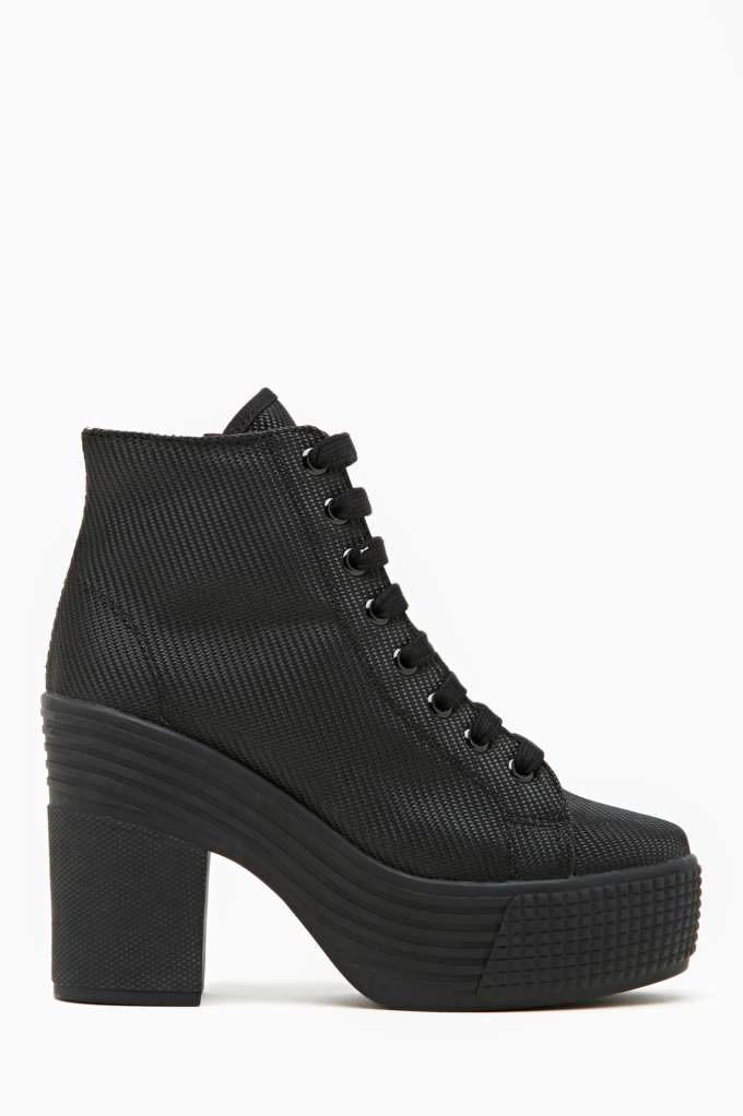 JC Play by Jeffrey Campbell Asif Platform Boot - Black in  Shoes at Nasty Gal