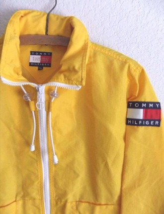 jacket tommy hilfiger jacket tommy hilfiger windbreaker yellow