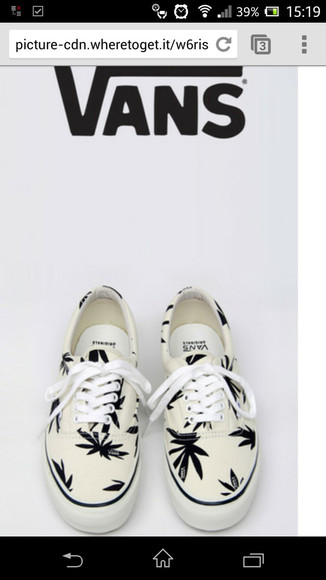 shoes vans vans sneakers white hanf marihuana weed leaf