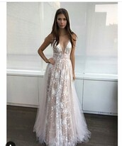 dress,white lace dress,white long dress,maxi dress,prom dress,prom,white,white dress,wedding dress,long dress,champagne,tulle dress,champagne dress,silver,embroidered,embellished,evening dress,lace dress,v neck dress,ivory dress,nude dress,sexy,backless prom dress,back,deep v,red carpet dress,sheer,strapless dress,i'm looking for this exact dress or something similar.,lace,white lace,lace wedding dress,creme,a line dress,light pink,champagne prom dress,tulle prom dress,appliqué sheer dress,sparkly dress,a line prom gowns,gown,tulle skirt,sleeveless,blush pink