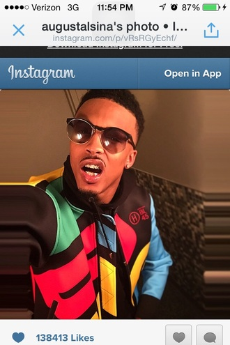 colorblock jacket menswear august alsina mens jacket