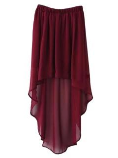 Low chiffon skirt