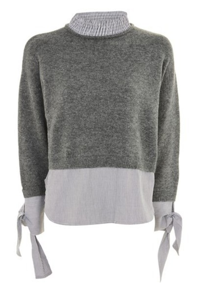 Topshop jumper charcoal sweater