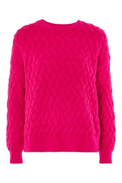 Topshop jumper magenta sweater
