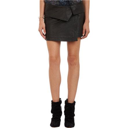 Isabel marant leather hutt mini skirt at barneys.com