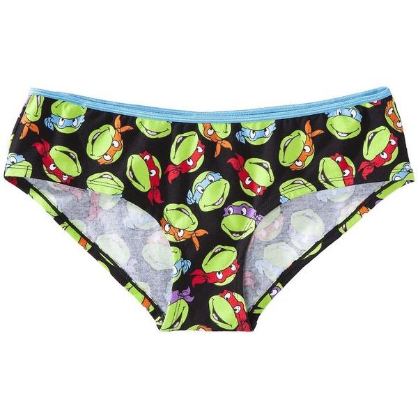 Women's Teenage Mutant Ninja Turtles Panty - Black