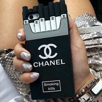 phone cover chanel inspired black and white iphone cover