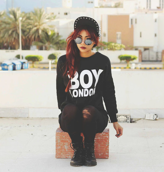 sweater black fashion top boy london girly style born to bother you sunglasses t-shirt shoes