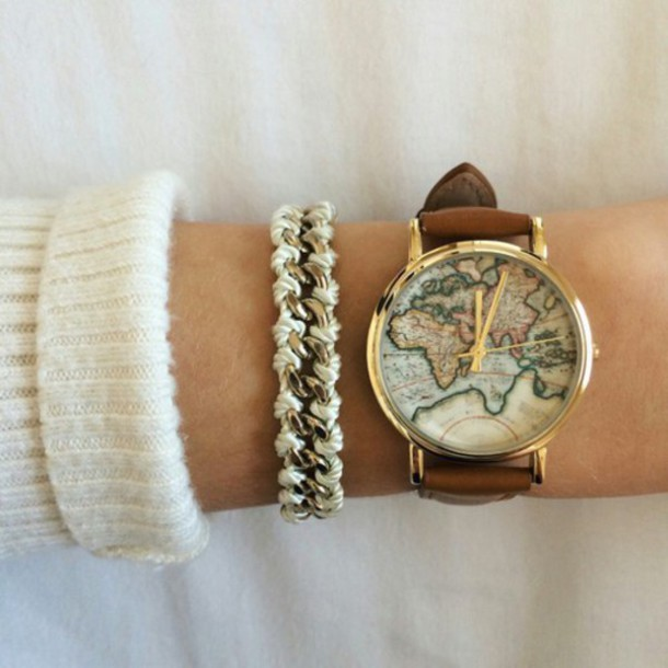jewels good braclet style nail accessories the world in my hand cute watch instagram girly tumblr pinterest weheartit home accessory home decor world
