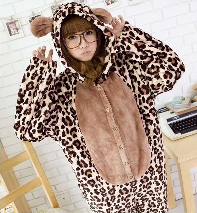Japan Anime Leopard Cosplay Costume Japan KIGURUMI Pajama Pyjamas Party Dress-in Costumes from Apparel & Accessories on Aliexpress.com