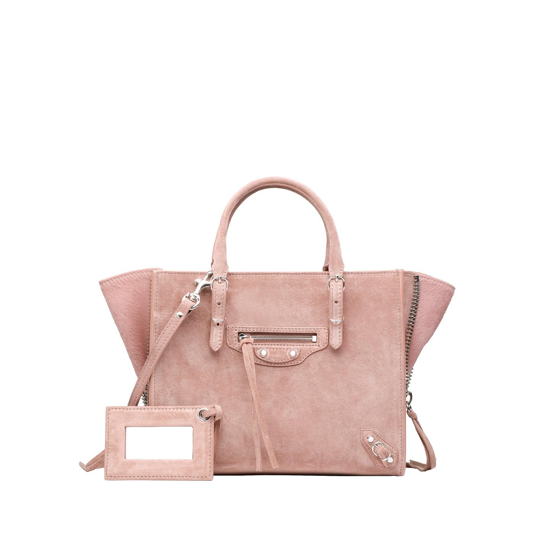 Balenciaga Baby Daim Mini Papier A4 Zip Around - Women's Cross Body Bag