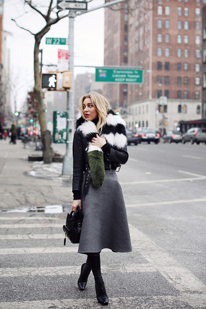 5 inch and up blogger jacket sweater skirt jewels bag shoes