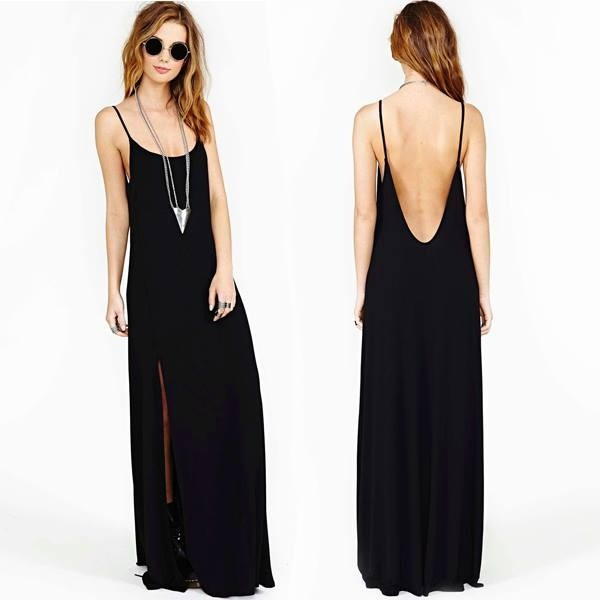 dress black black dress open back dresses open back maxi dress