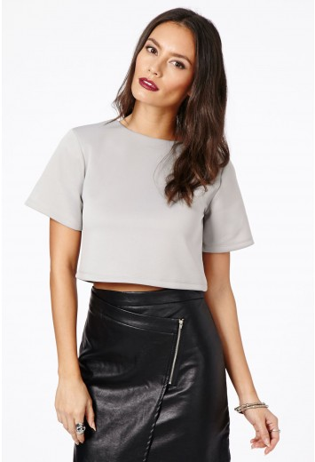 Lenia Scuba Boxy Top - Tops - Basics - Missguided