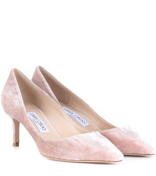 Jimmy Choo pumps velvet pink shoes