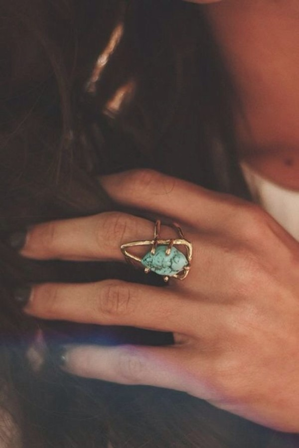 jewels blue stone ring