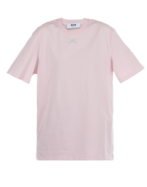 MSGM t-shirt shirt cotton t-shirt t-shirt cotton pink top