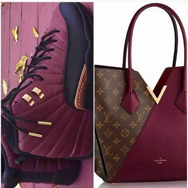 Bag: burgundy, burgundy, louis vuitton, shoes, jordans, taxi 12s - Wheretoget