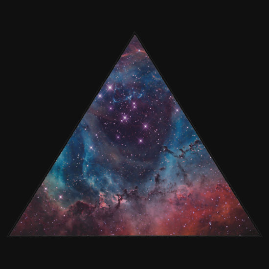 quot90s grunge nebula galaxy space triangle pattern