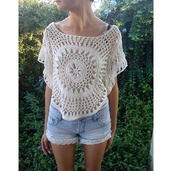 shirt,lace,top,blouse,clothes,gorgeous,women,crochet crop top,crochet,see through,shorts,summer outfits,festival,spring break,hipster,fashionista,style,trendy,stylish,boho,cute,girly,boho chic,boho shirt,indie,indie boho,summer,tumblr,girl,cool,denim,blogger,streetstyle,streetwear,beach,instagram,pretty,knitwear,beautiful,coachella,white,on point clothing
