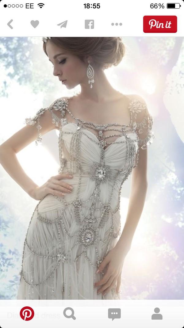Dress: diamonds, prom dress, party dress, formal dress, fancy ...