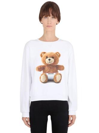 sweatshirt bear cotton white sweater