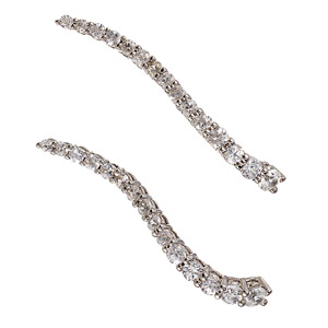 Graziela Gems | Wave Ear Cuff in White
