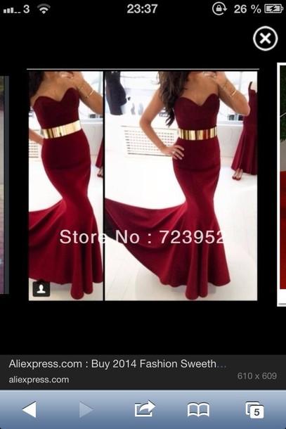dress burgundy dress