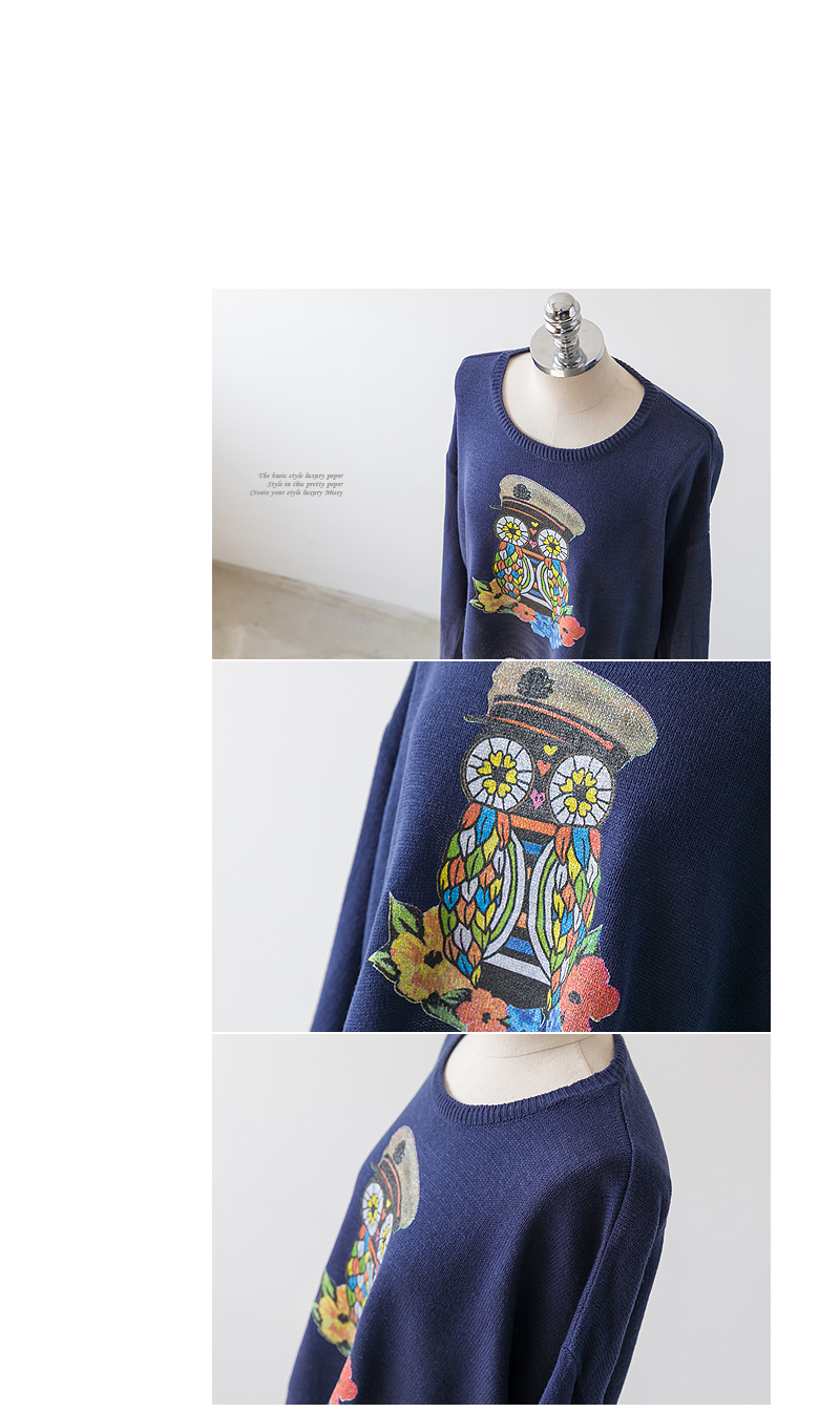 Owl-Print T-Shirt - PEPER | YESSTYLE