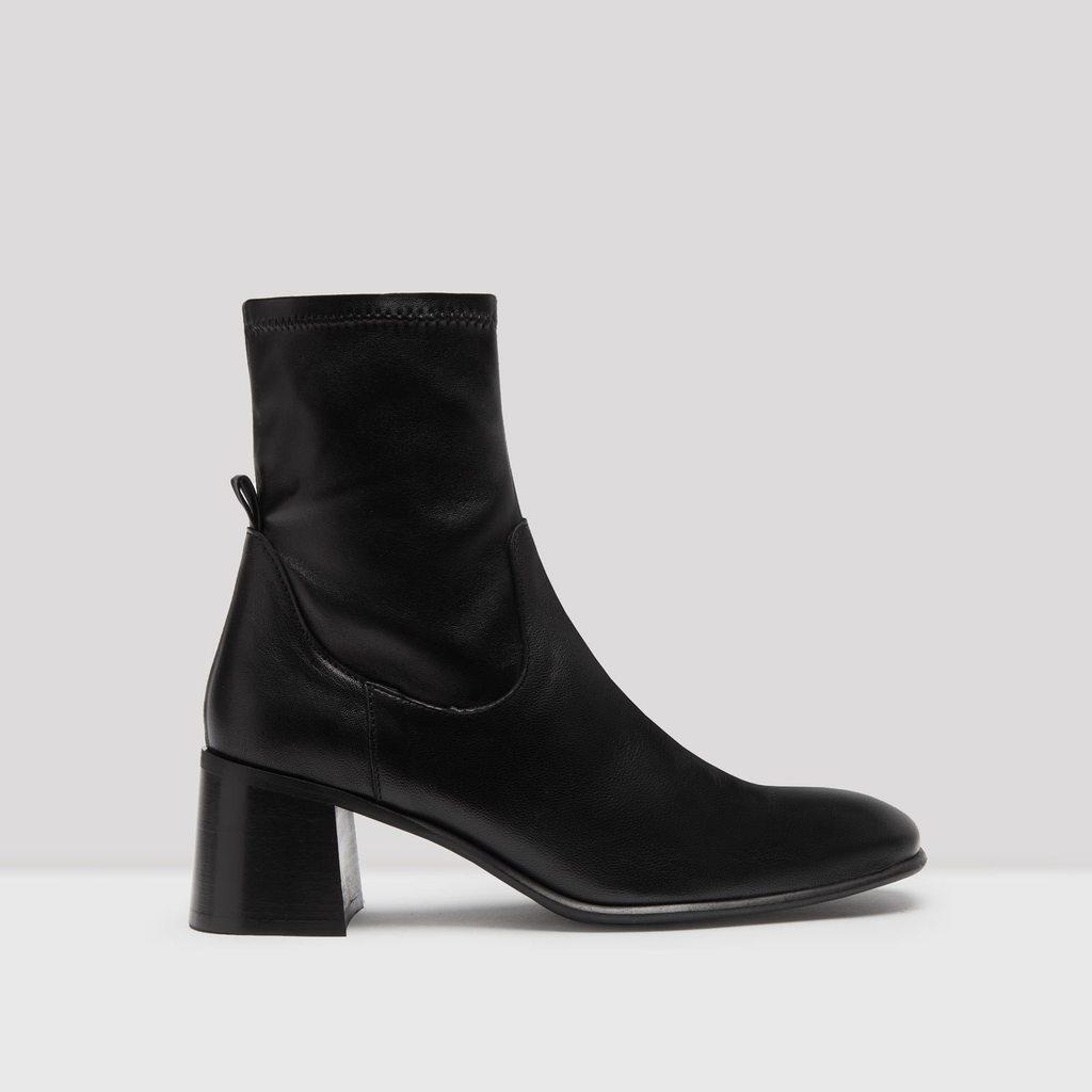 Azra Black Leather Boots