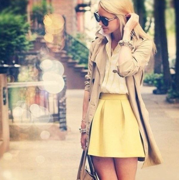 skirt yellow skater skirt yellow skater skirt cute funny