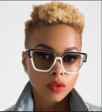 sunglasses square glasses eyewear chrisette michelle