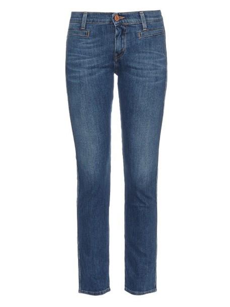 M.I.H JEANS Paris mid-rise skinny jeans in indigo