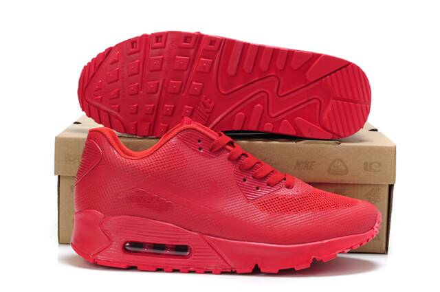 nike air max 90 hyp prm all red mens shoes