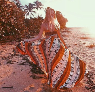 dress orange dress orange swimwear tribal swimsuit